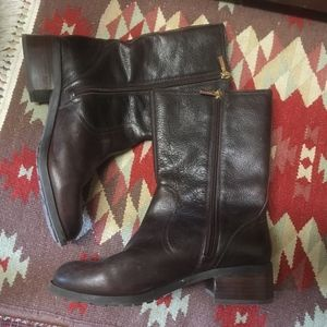 Vince Camuto Shoes - Vince Camuto Leather Moto Boots